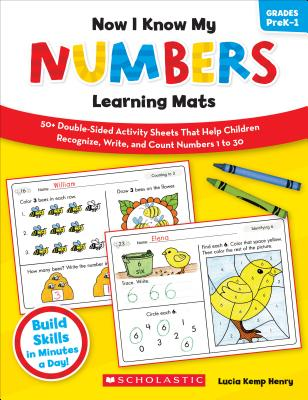 Now I Know My Numbers Learning Mats By Henry, Lucia Kemp